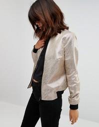 Куртка-пилот с переливающимся полосками Helene Berman