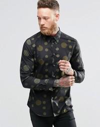 Рубашка слим с принтом Paul Smith - Хаки