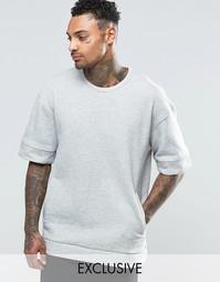 Свитшот с короткими рукавами Underated - Серый
