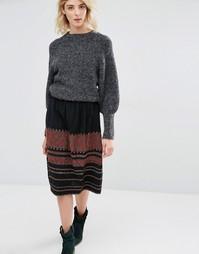 Мини-юбка с вышивкой Gat Rimon Irala - Черный