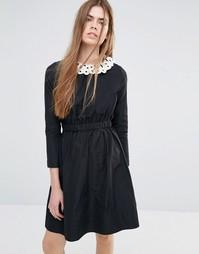 Платье со съемным воротником Vanessa Bruno Athe - Черный
