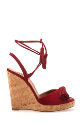 Замшевые босоножки Wild One Wedge Espadrilles Aquazzura