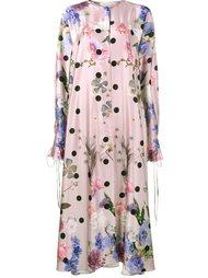 атласное платье с цветочным принтом Natasha Zinko
