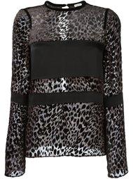 блузка с леопардовым принтом   Emanuel Ungaro