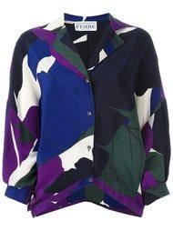рубашка с лиственным принтом Gianfranco Ferre Vintage