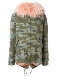 hooeded camouflage print parka Mr & Mrs Italy