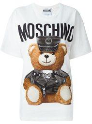футболка с принтом trompe l'oeil  Moschino