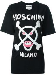 футболка с абстрактным принтом   Moschino