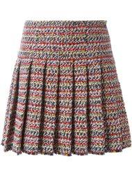плиссированная твидовая юбка Chanel Vintage