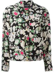 куртка с цветочным принтом Chanel Vintage