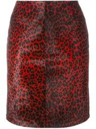 леопардовая юбка-карандаш Alaïa Vintage