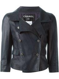 двубортная байкерская куртка Chanel Vintage