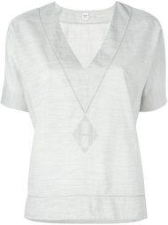 топ с V-образным вырезом Hermès Vintage