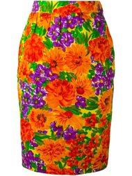 юбка-карандаш с цветочным принтом Givenchy Vintage