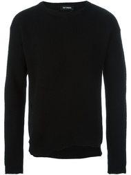 свитер с поношенными эффектом  Raf Simons