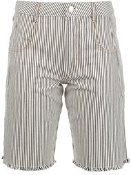 striped denim shorts T By Alexander Wang