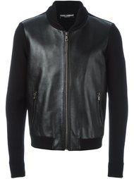 куртка с кожаными панелями Dolce & Gabbana