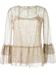 ruffled lace blouse Alberta Ferretti
