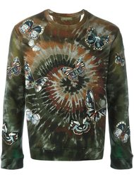 'Tie&Dye' embroidered butterfly sweatshirt Valentino
