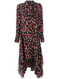 асимметричное платье с узором Marni