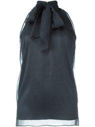 блузка с завязками на воротнике Brunello Cucinelli