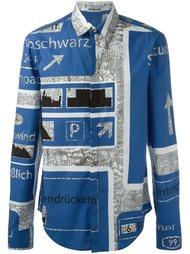 классическая рубашка с принтом Chalayan