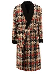 belted mid-length coat Aganovich