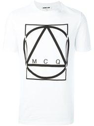 футболка с геометрическим принтом McQ Alexander McQueen