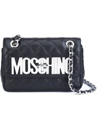 quilted logo plaque shoulder bag Moschino