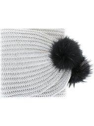шарф с помпонами Blugirl