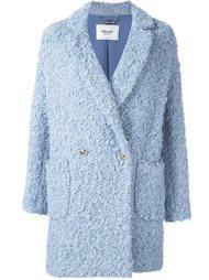 двубортное пальто из букле Blugirl