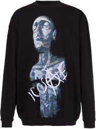 painted print sweatshirt Icosae