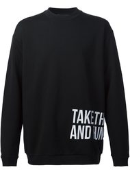 'Take The Cash And Run' sweatshirt Icosae