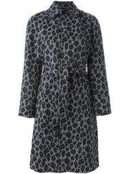 пальто с леопардовым принтом Saint Laurent