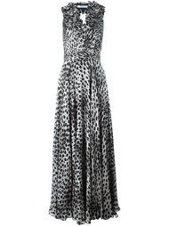 вечернее платье с леопардовым принтом Blumarine