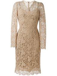 кружевное платье миди Dolce & Gabbana