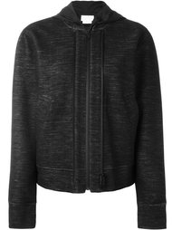 double zipped fastening hoodie DKNY