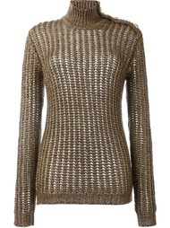 ribbed open knit jumper Balmain