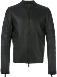 zipped leather jacket Marcelo Burlon County Of Milan