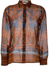 рубашка с принтом жирафов Valentino