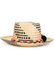 шляпа с помпонами Yosuzi