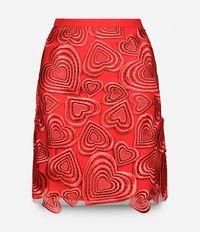 юбка с вышивкой в форме сердец Christopher Kane