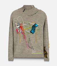 свитер с контрастными деталями Christopher Kane