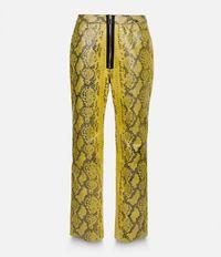 брюки с эффектом змеиной кожи  Christopher Kane
