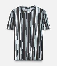 футболка с полосатым принтом Christopher Kane