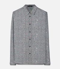 рубашка с зигзагообразным узором  Christopher Kane