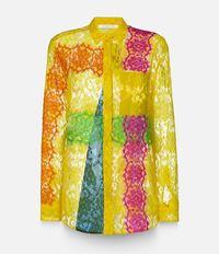 рубашка с кружевной отделкой Christopher Kane