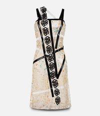 контрастное платье  Christopher Kane
