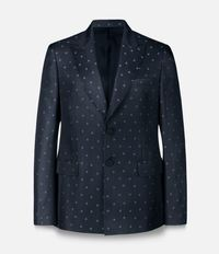 однобортный пиджак с принтом сердец Christopher Kane