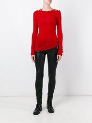 свитер с погонами  Balmain